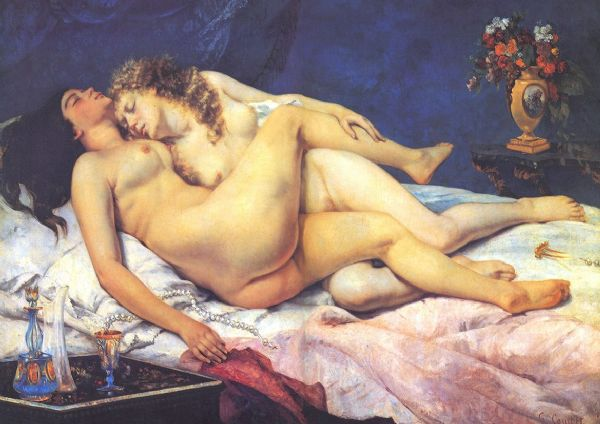 Courbet, Gustave: Sleep (Le Sommeil), 1866. Fine Art Print/Poster. Sizes: A4/A3/A2/A1 (001049)
